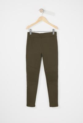 girls fashion olive green legging