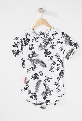 boys fashion floral tropical t-shirt