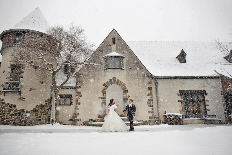 winter snow wedding venue nj