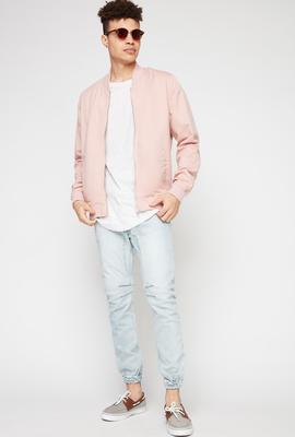 men fashion pastel bomber jacket