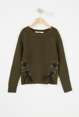 girls fashion knit sweater
