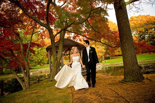 fall gazebo wedding pleasantdale chateau